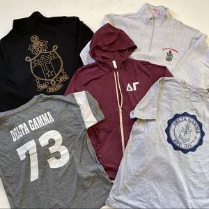 Delta Gamma Sweatshirt & Tshirt Bundle Sz L